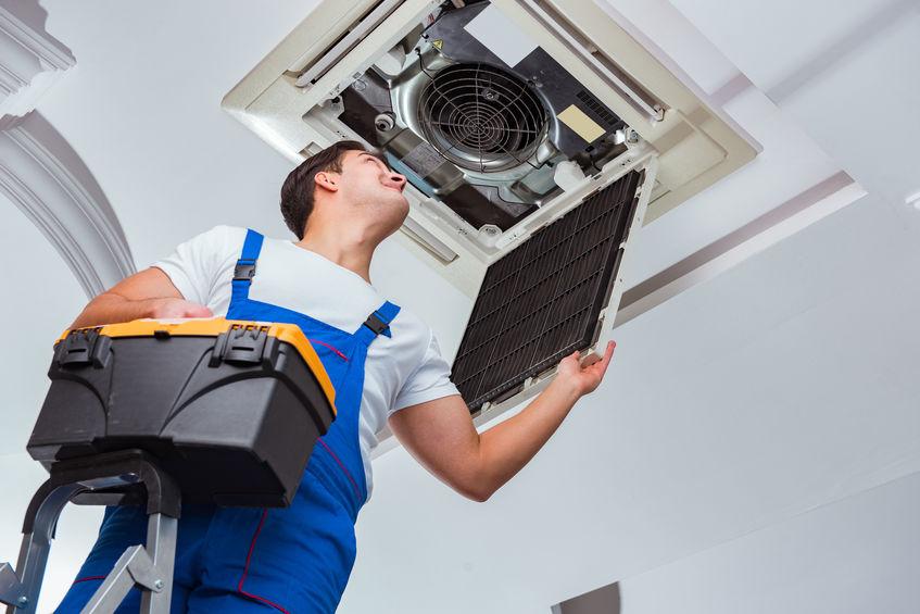Man performing air conditioner installation in centreville va