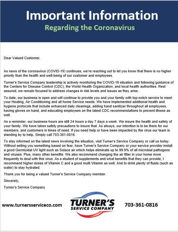 coronavirus important update
